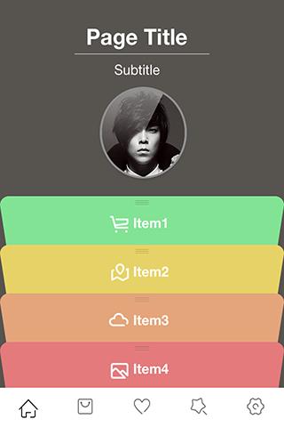 app主页模板-时尚模块
