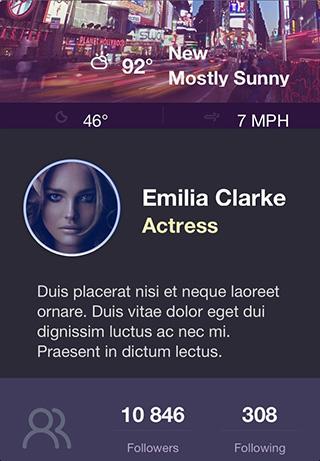 app主页模板-城市明星