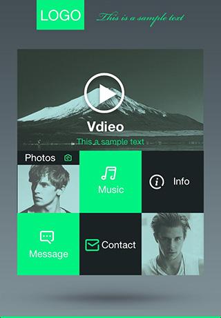 app主页模板-多元空间