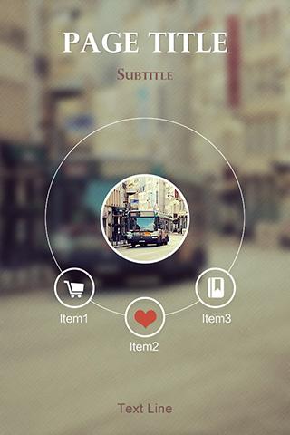 app主頁模板-街頭聚焦