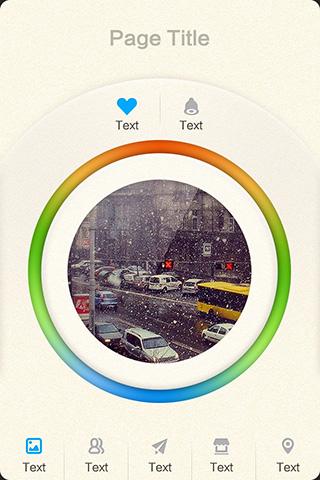 app主页模板-冬季恋歌