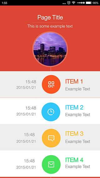 时光穿梭-app列表模板